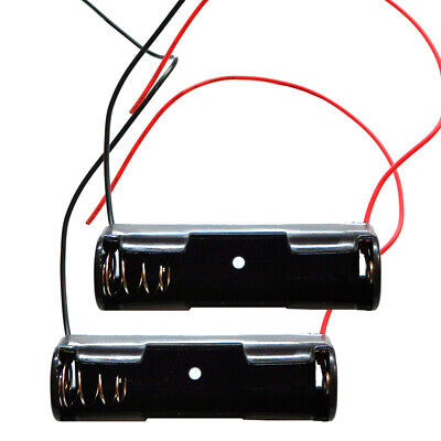2pcs Battery Holder 1-aa Cell Case Box With 6 Cable Leads