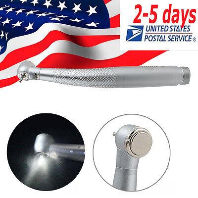 Dental High Speed Led Handpiece Standard Push 3 Spray 2 Hole With Cartridge Usa