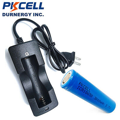 1 pcs 3000mAh 18650 Vape Battery Flat Top Li-ion + 18650 Li-ion Battery Charger