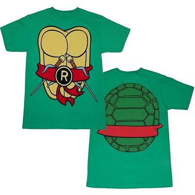 Authentic Teenage Mutant Ninja Turtles TMNT Costume Adult T-shirt Tee Raphael