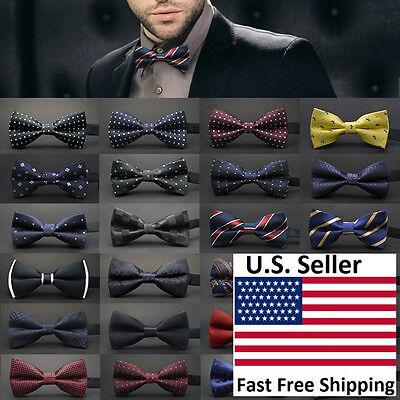 Bow Tie Tuxedo (Classic 23-Style Fashion Men's Adjustable Tuxedo Bowtie Wedding Bow Tie)