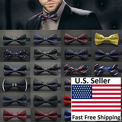 Classic 23-Style Fashion Men's Adjustable Tuxedo Bowtie Wedding Bow Tie Necktie - Mens Bow Tie