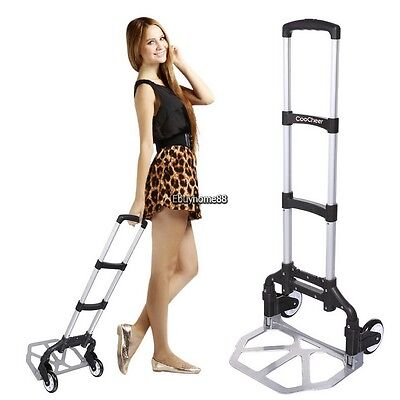 Portable Folding Hand Truck Dolly Luggage Carts 150 Lbs Capacity Ehe8