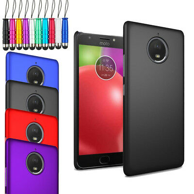 "For Motorola Moto E4 Plus 5.5"" - Armour Hard Shell Case Cover + Film + Stylus"