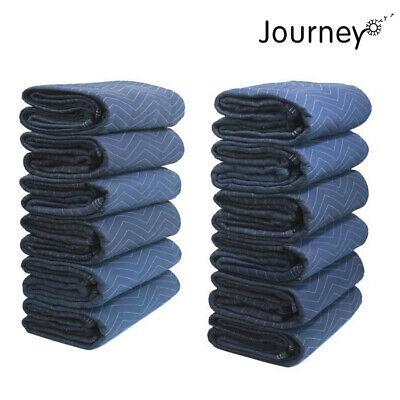 12 Pcs Journeyo Moving Blanket Shipping Furniture Pads 80x72 45lbdz