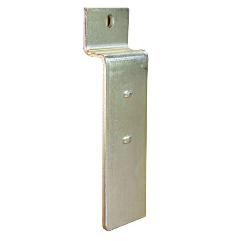 "Zinc Base Plate Slatwall Slatgrid Adaption Display Weld Drill 1""W Lot of 100 New"