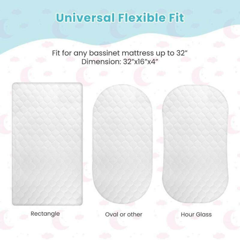 Momcozy Bassinet Mattress Pad Cover