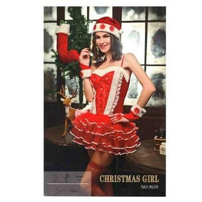 Miss Santa Suit (Red Sexy Miss Claus Xmas Santa Christmas Cute Mrs Santa Suit Costume Fancy)