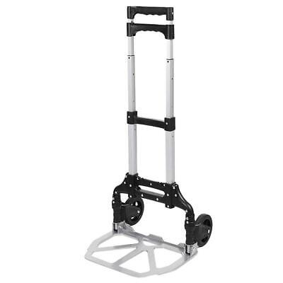 Portable Folding Hand Truck Dolly Luggage Carts Silver 150 Lbs Hfor 03