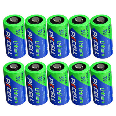 123A CR123A CR17345 3 Volt Lithium Camera Photo Batteries pack of 10 ()