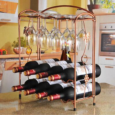 Weinregal 8 Flaschen Metall Flaschenregal Flaschenständer Weinschrank Standregal - Wein-stand