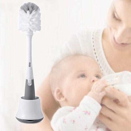 Bottle Cleaner Brush Milk Nipple Stand Cleaning Scrubbing Baby Feeding Equipment