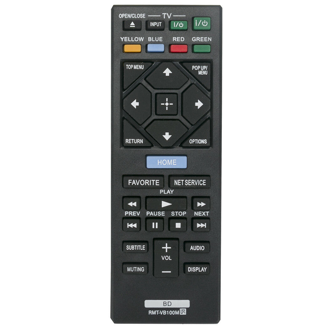New RMT-VB100M Replacement Remote Control for Sony Blu-ray D