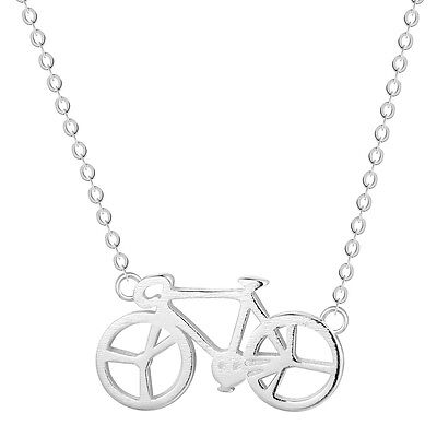 925 Silver Bike Pendant Necklace For Girls Steampunk Bicycle Sports Summer Style - Steampunk Fashion Girl