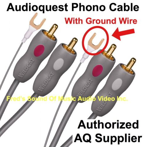 NEW Audioquest Record Player Cable 1.5m RCA Connectors For P