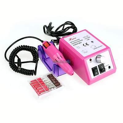 110V Pro Manicure Pedicure Electric Drill Acrylic Nail Art Pen Machine Set Kit