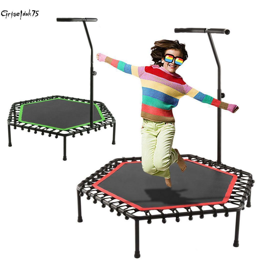 Sport Jumper Minitrampolin Jumping Trampolin Fitness Handlauf Federung Faltbar