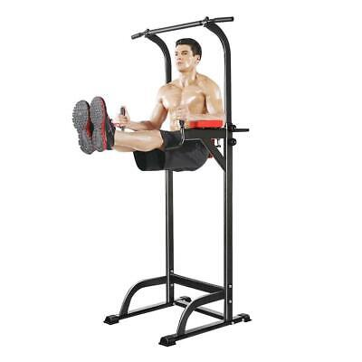 Dip Station Chin Up Tower Rack Pull Up Weight Stand Bar Raise Workout Indoor Gym