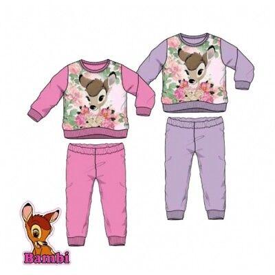 Disney Bambi Mädchen Schlafanzug Pyjama 100% Baumwolle aus England ()