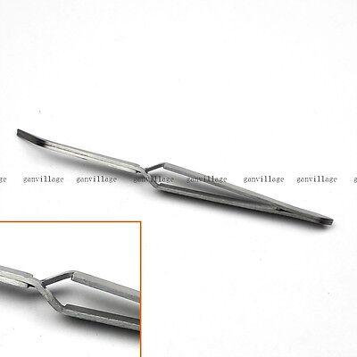 1PC Self Close Holding Tweezers Bent Cross Lock Tweezers DIY Jewelry Craft Tool