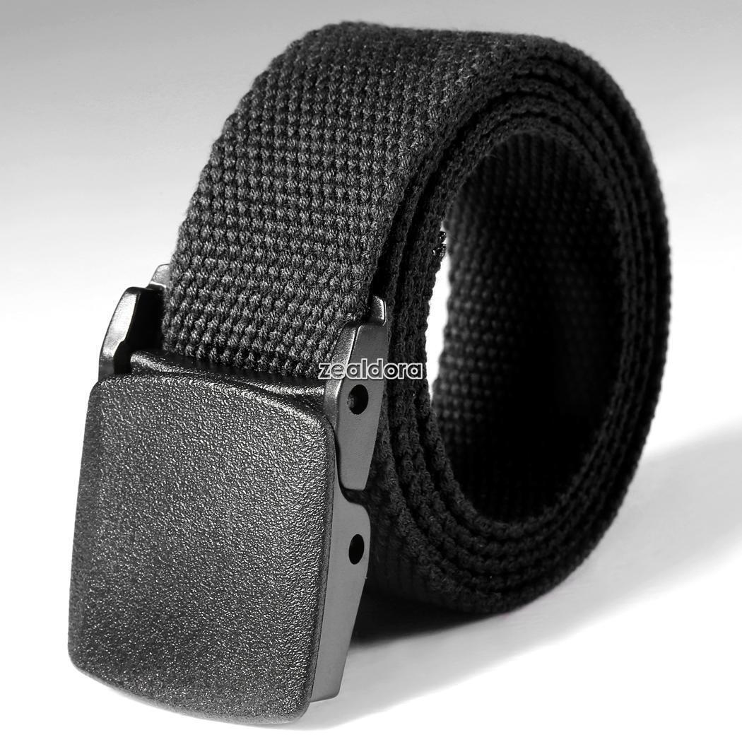 Men's Outdoor Sports Military Tactical Nylon Waistband Canvas Web Belt Dazzling☆