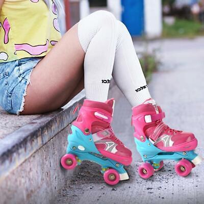 Kinder Rollschuhe Rollerskater Größe verstellbar Inlineskate Schlittschuh Gift ()