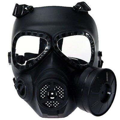 Anti-fog Airsoft Tactical Hunting Paintball Cs War Game Safety Masks Ventilate Full Face Electric Fan Gas Mask With Goggle To Ensure Smooth Transmission Back To Search Resultssports & Entertainment Camping & Hiking