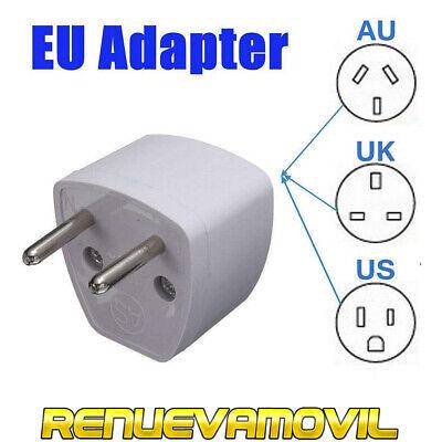 Adaptador Convertidor AU US UK a EU Plug Cargador Pared Viaje Universal...