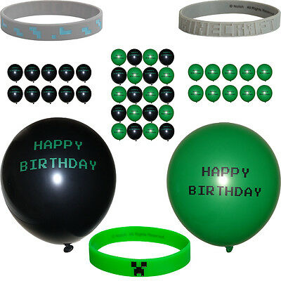 Bracelets and Happy Birthday Balloons~ Gamer Themed Party - Themed Birthday Decorations