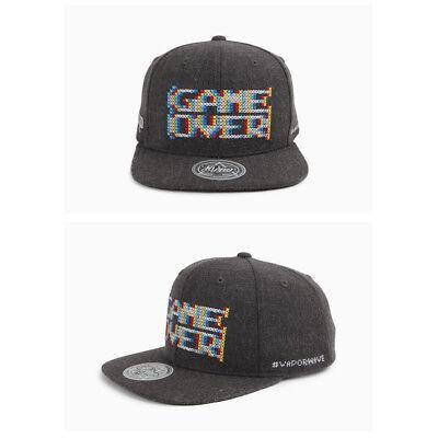 e1f1dda41420b Unisex Mens Flipper Game Over Vaporwave Baseball Cap Snapback Hats Charcoal