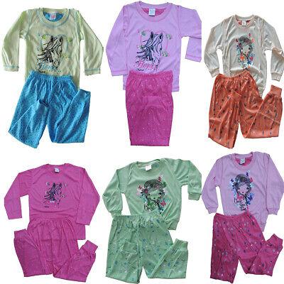 10 Stück Mädchen Pyjamas Größe 104 110 116 122 128 Fußball Pyjama Schlafanzug (Mädchen Schlafanzug Größe 10)