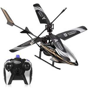 LED Head Light Outdoor Remote Control 2 Channel Toys GIFT RC Helicopter Toy N4U8