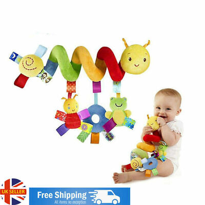 Baby Infant Crib Cot Pram Hanging Spiral Stroller Car Seat Pushchair Toy & Bell