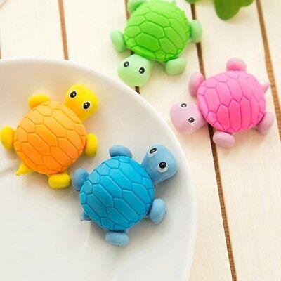 Cute Kids Students Eraser Cartoon Turtle Shape Mini 3D Rubber Eraser Toys Gift - 3d Erasers