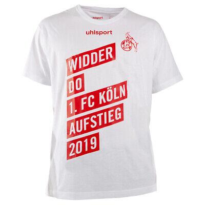 uhlsport Offizielles 1. FC Köln Aufstiegsshirt T-Shirt 2019 WIDDER DO Aufsteiger
