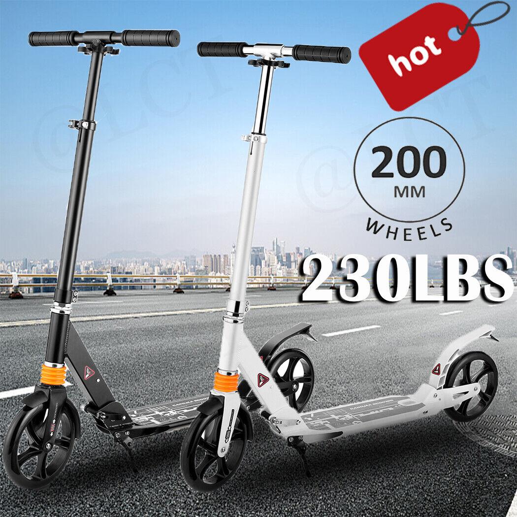 Adult Kick Scooter Folding-w/Lightweight Adjustable Wheels D