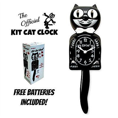 CLASSIC BLACK KIT CAT CLOCK 15.5