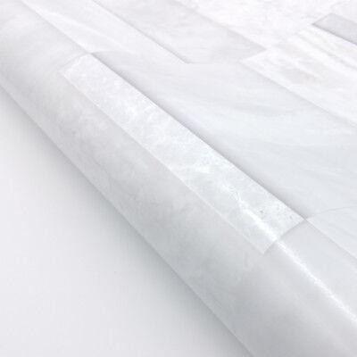 White Brick Wall Tiles Glossy Wallpaper Self-adhesive Marble Design