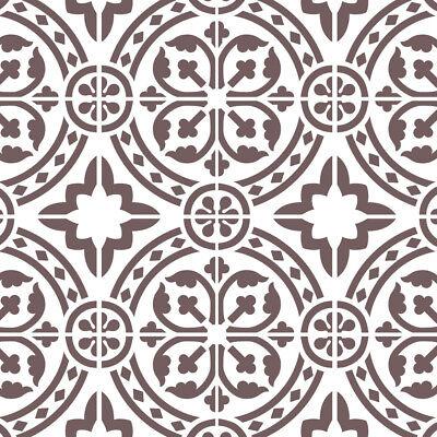 Wall Moroccan Reusable Tile Stencil T0067 for DIY Wall Decor Furniture Floor