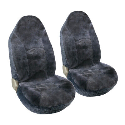 Auto Genuine Australian 2 Sheepskin Seat Covers for Car High Back Front Seat