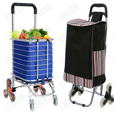 Canvas Waterproof Shopping Cart Fold Grocery Laundry Utility Trolly Handcart Z
