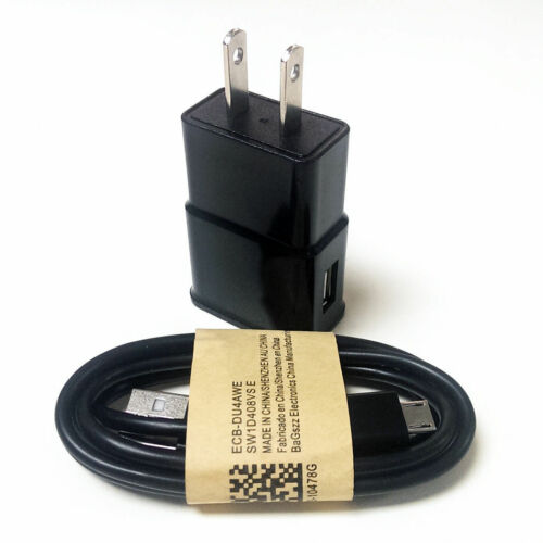 Micro USB Cable For Samsung Galaxy Note2/4 S2/3/4/6 US Plug