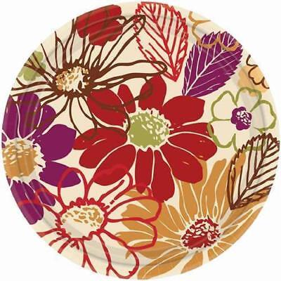 Paper Party Banquet Plates - 16 - Nature's Imprint Modern Floral Flower Garden Party 10