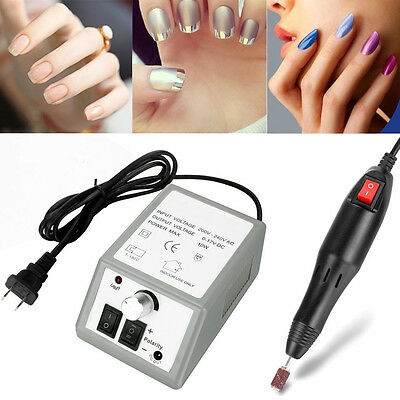 Professional Electric Nail File Drill Manicure Tool Pedicure Machine Set Kit Us