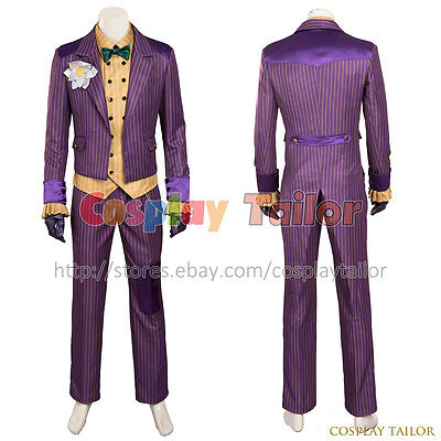 Batman: Arkham Knight Cosplay The Joker Costume Amazing Party Uniform Halloween