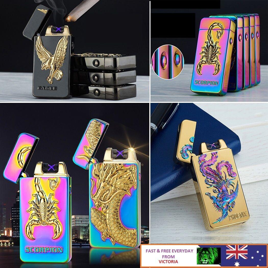 Cigarette Lighter Dual Arc Electric USB Rechargeable Plasma
