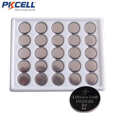 Cr2320 Lithium Coin Cell Batteries (200pcs CR2320 DL2320  3V Lithium Coin Cell Batteries for watches toys PKCELL )
