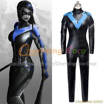 Batman: Arkham City Nightwing Cosplay Costume Uniform Jumpsuit Halloween Party ](Party City Halloween City)