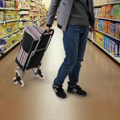 6 Wheel Alu Folding Portable Shopping Cart Market Grocery Basket Cart Trolley