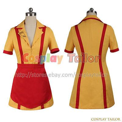 2 Broke Girls Max Black Cosplay Costume Dress Halloween Uniform Female Outfit](2 Broke Girl Halloween Costumes)